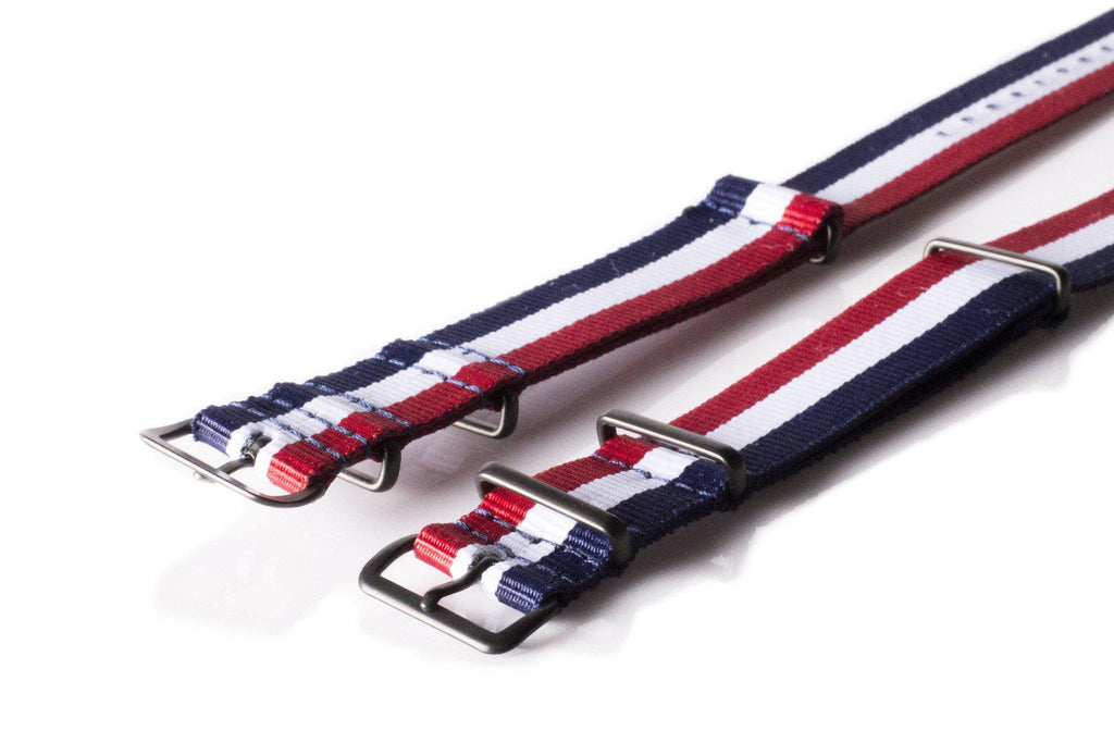 PVD premium NATO Strap Red, White and Navy - Cheapest NATO Straps  - 2