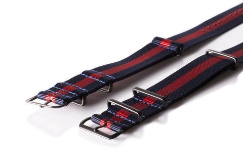 Extra Long PVD NATO Strap Navy and Red - Cheapest NATO Straps  - 2