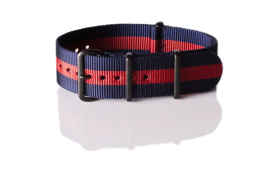 Extra Long PVD NATO Strap Navy and Red - Cheapest NATO Straps  - 1
