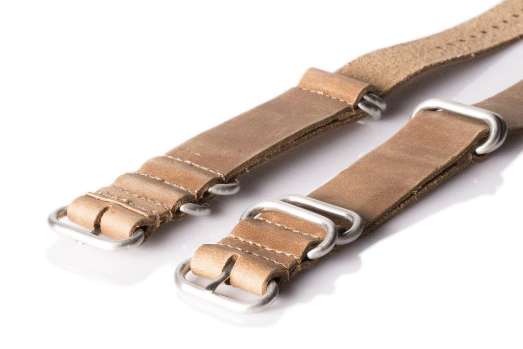 Leather SS Zulu Strap Saddle Brown - Cheapest NATO Straps  - 2