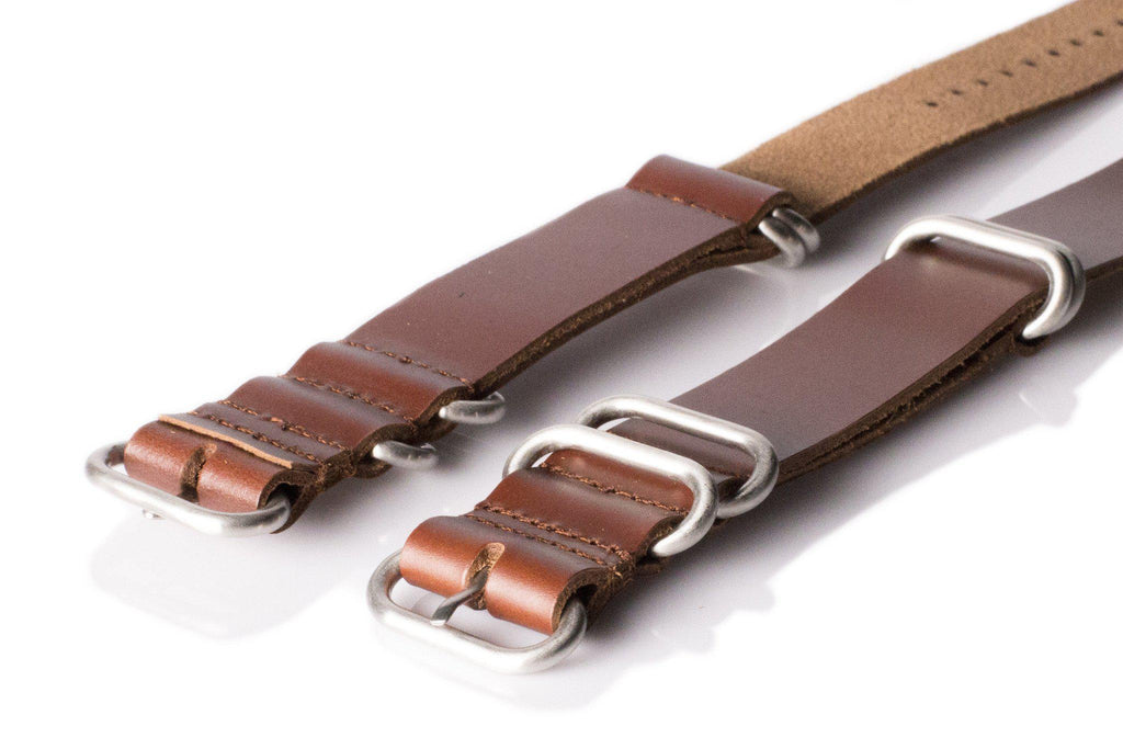 Leather SS Zulu Strap Copper Red - Cheapest NATO Straps  - 2