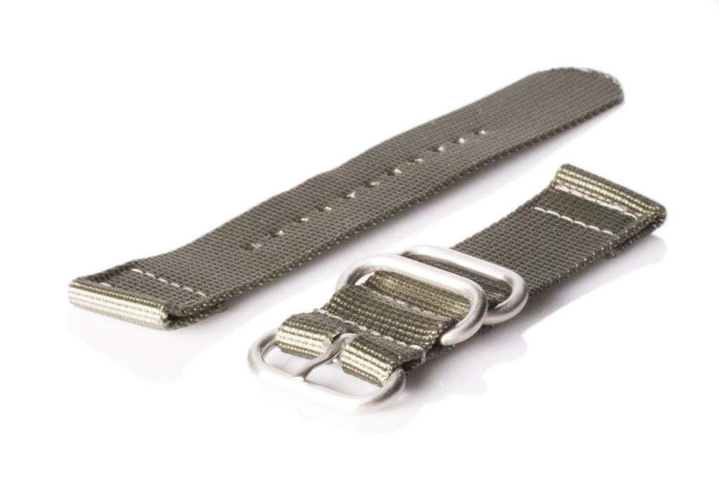 Smart Watch Strap Silver Green - Cheapest NATO Straps  - 1