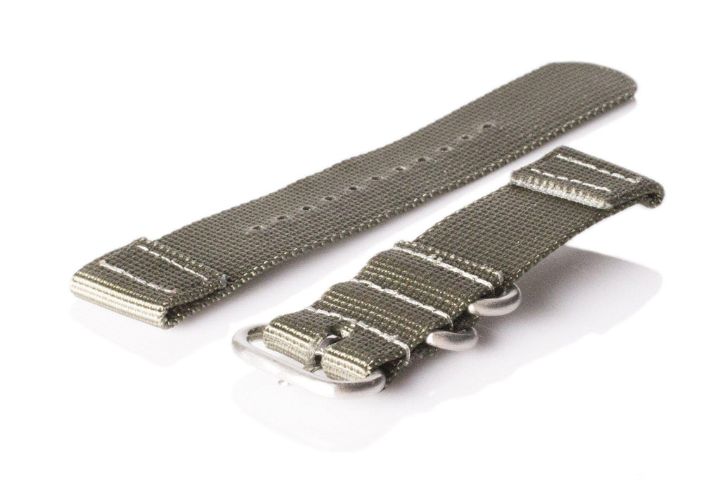 Smart Watch Strap Silver Green - Cheapest NATO Straps  - 2
