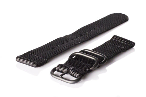 Leather PVD Zulu Strap Military Gray (24 mm)