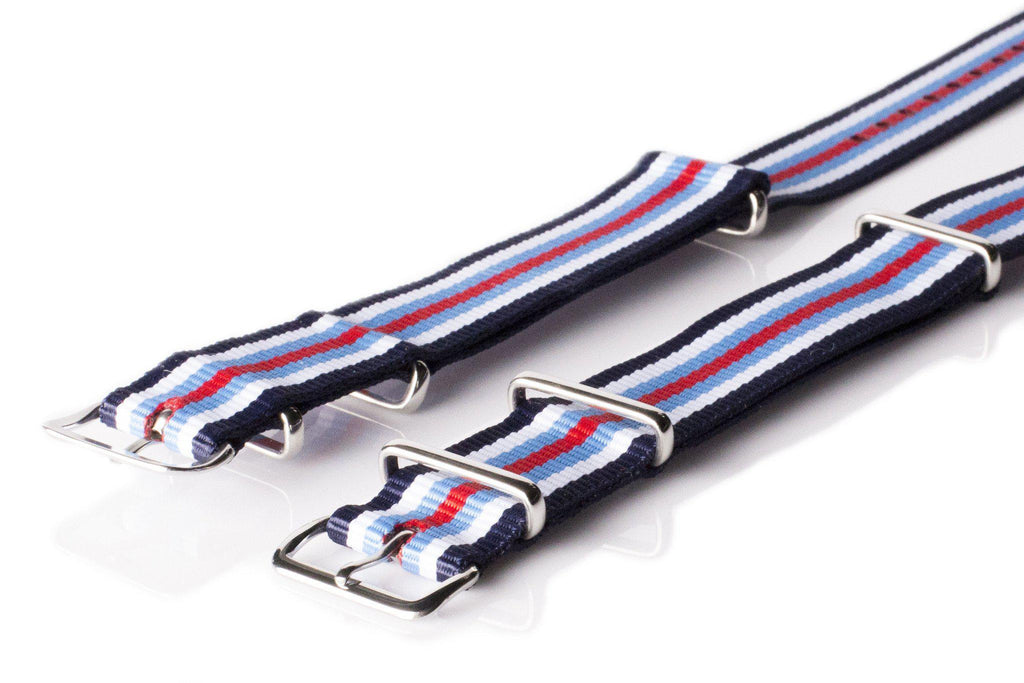 NATO Regimental Strap Navy, White, Blue and Red - Cheapest NATO Straps  - 2
