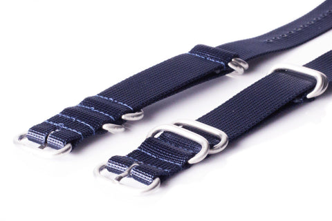 Extra Long Zulu strap SS 5-ring Navy - Cheapest NATO Straps  - 2