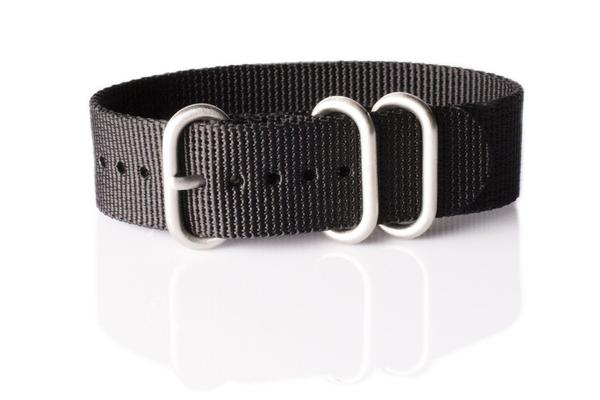 Zulu strap 3-ring Black
