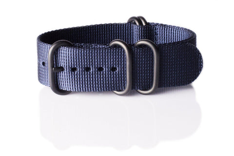 Extra Long PVD Zulu Strap 5-ring Navy - Cheapest NATO Straps  - 1