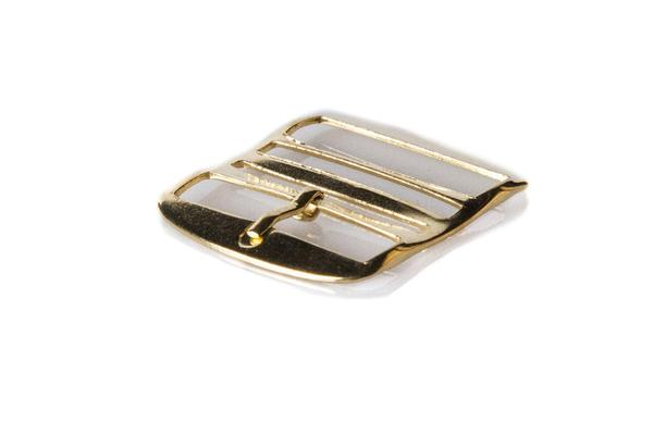 Gold Perlon buckle