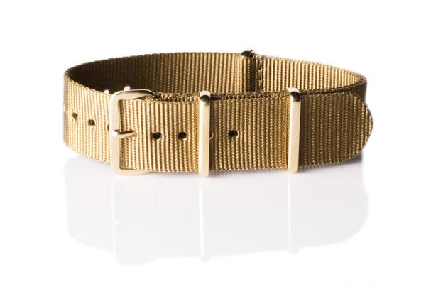 Gold premium NATO Strap Golden Brown
