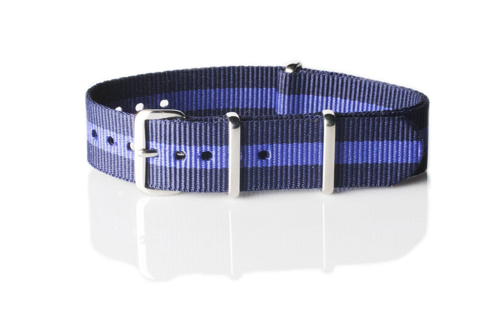 NATO Regimental Strap Navy and Purple - Cheapest NATO Straps  - 1