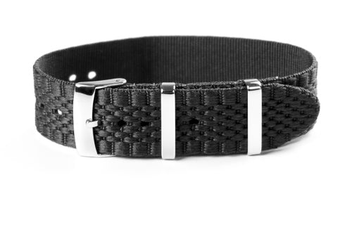 Jubilée Single Pass Strap Black (18 & 22 mm)