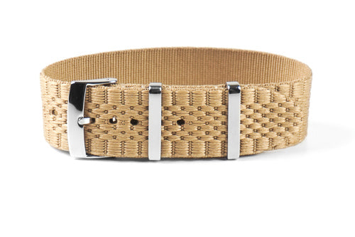 Jubilée Single Pass Strap Khaki (18 & 22 mm)