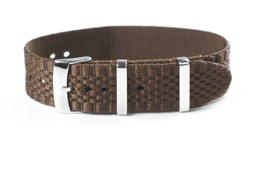 Jubilée Single Pass Strap Brown (18, 20 & 22 mm)