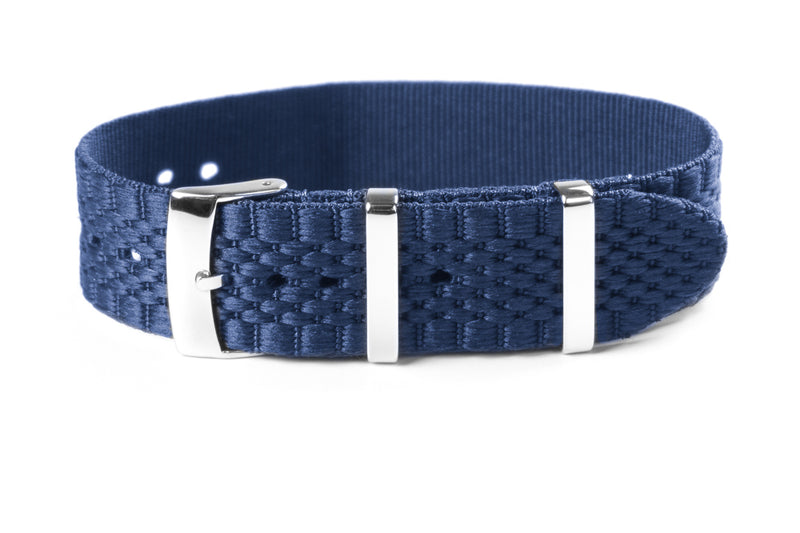 Jubilée Single Pass Strap Navy (18 & 22 mm)