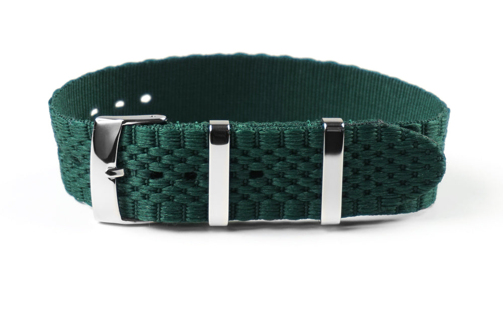 Jubilée Single Pass Strap British Racing Green (18, 20 & 22 mm)