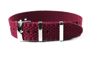 Jubilée Single Pass Strap Burgundy (18 & 22 mm)