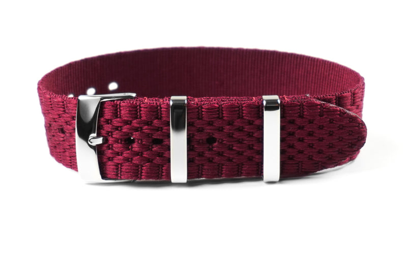 Jubilée Single Pass Strap Burgundy (18, 20 & 22 mm)