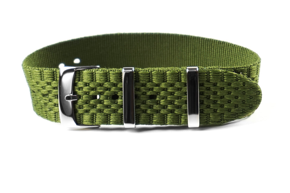 Jubilée Single Pass Strap Khaki Green (18 & 22 mm)