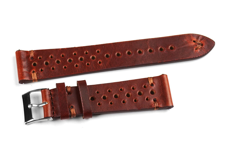 Kvarnsjö Premium Racing Rusty with brown stitching (24 mm)