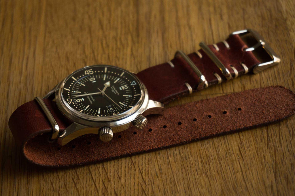 Kvarnsjö Vintage Leather NATO Brown