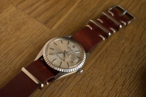 Kvarnsjö Vintage Leather NATO Brown (18 mm)