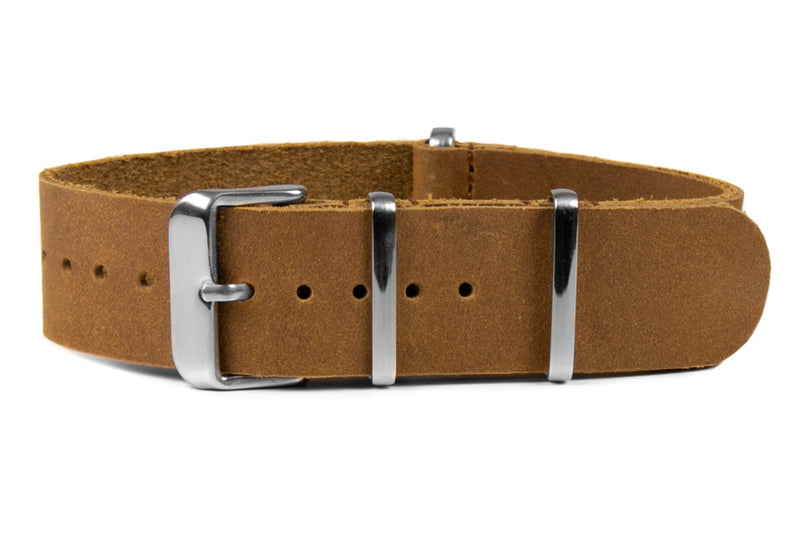 Leather NATO Strap Cognac (18, 22 & 24 mm)