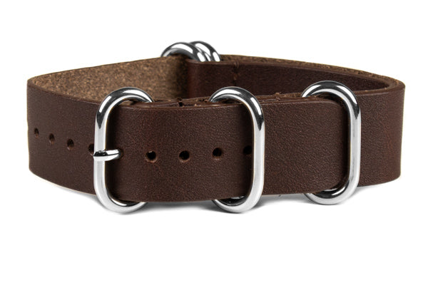 Leather  Zulu Strap Dark Chocolate