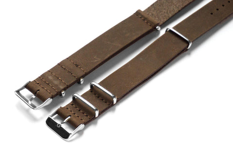 Leather NATO Strap Espresso