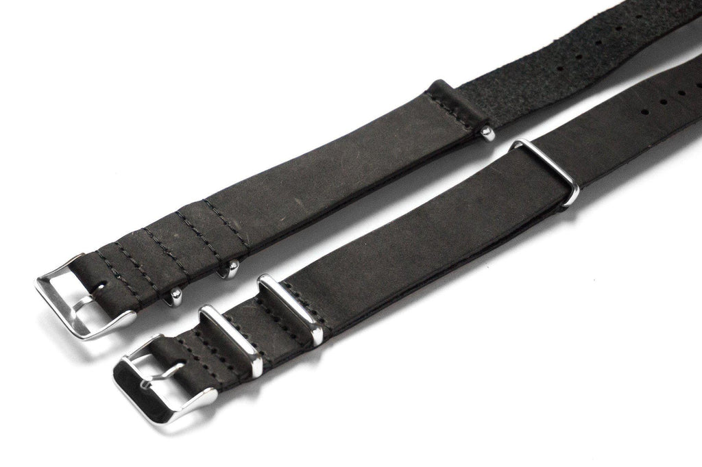 Leather NATO Strap Black