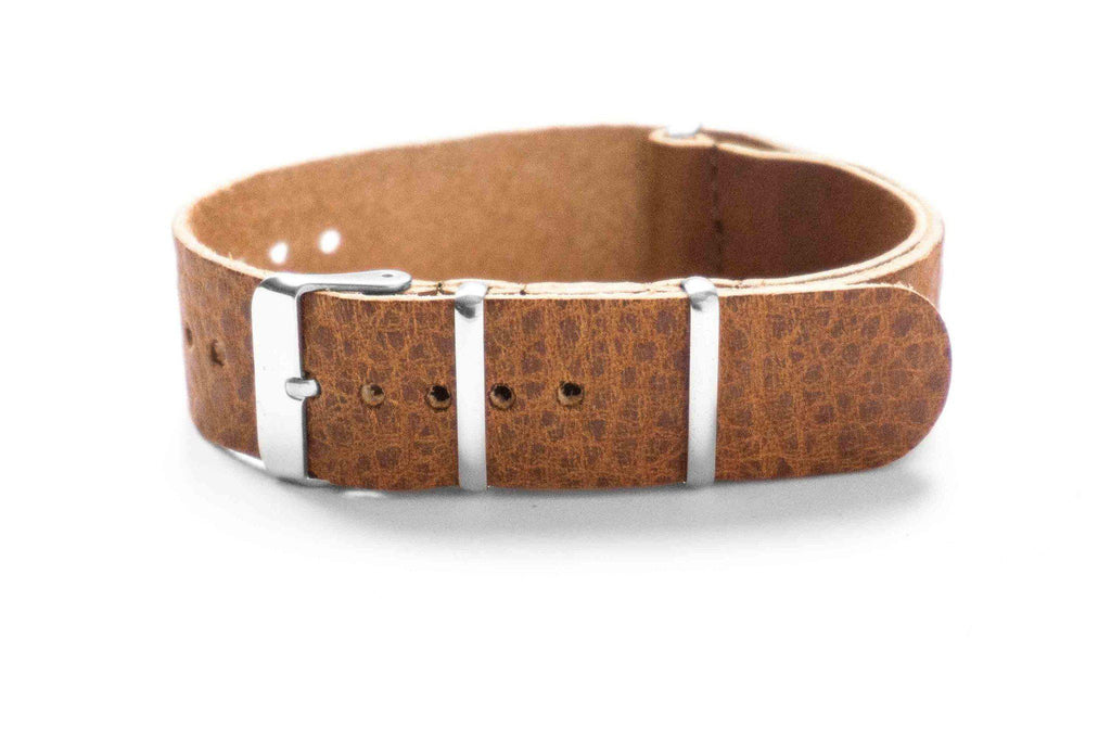 Leather NATO Strap Vintage Walnut (20 mm)