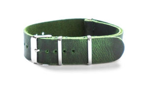 Leather NATO Strap British Racing Green