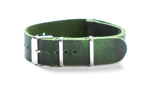 Leather NATO Strap British Racing Green (18, 22 & 24 mm)
