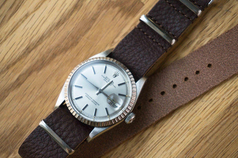Leather NATO Strap Cocoa (20 mm)