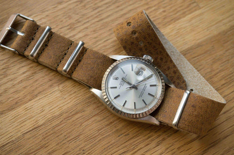 Leather NATO Strap Vintage Walnut