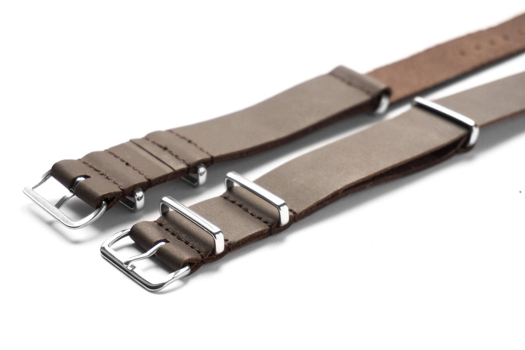 Leather NATO Strap Smooth Brown - Cheapest NATO Straps  - 2
