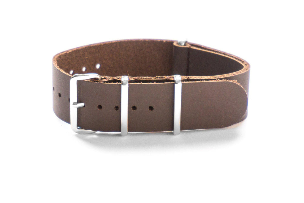 Leather NATO Strap Smooth Brown - Cheapest NATO Straps  - 1