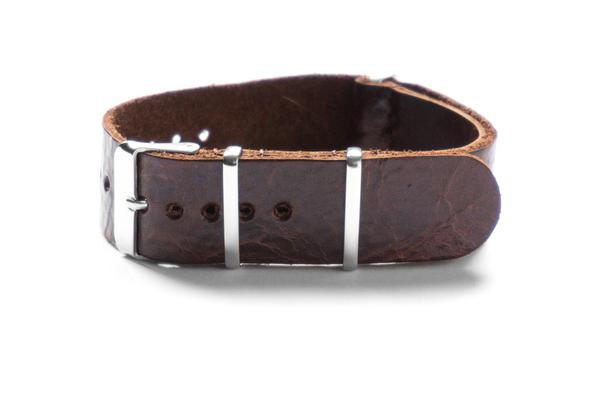 Leather NATO Strap Chestnut