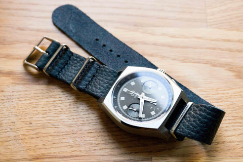 Leather NATO Strap Midnight