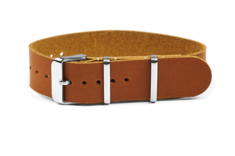 Single Pass Leather Strap Oak (18, 20 & 22 mm)