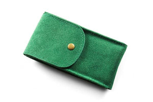 Watch Pouch Green Suede