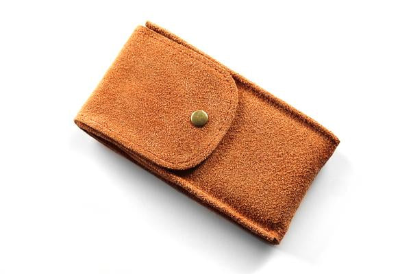 Watch Pouch Dirty orange Suede
