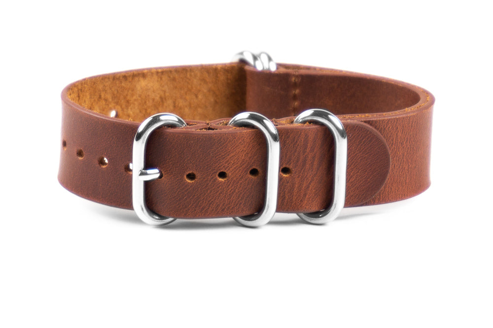 Leather Zulu Strap Chestnut
