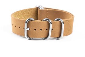 Leather Zulu Strap Sand