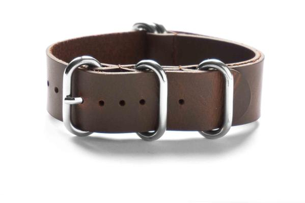 Leather Zulu Strap Brown