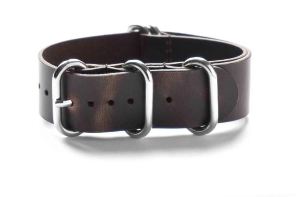 Leather Zulu Strap Dark Brown