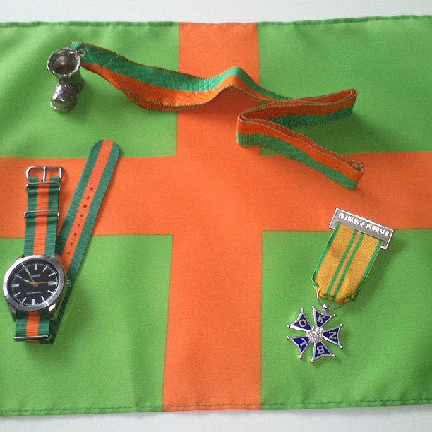 NATO Regimental Strap Green and Orange - Cheapest NATO Straps  - 4