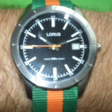 NATO Regimental Strap Green and Orange - Cheapest NATO Straps  - 3