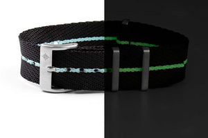 Deluxe NATO Strap Black and Lume