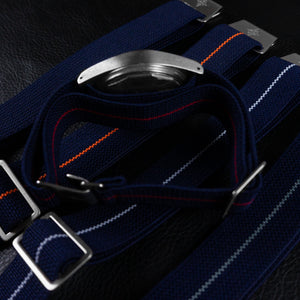 Marine Nationale Strap Navy and Orange